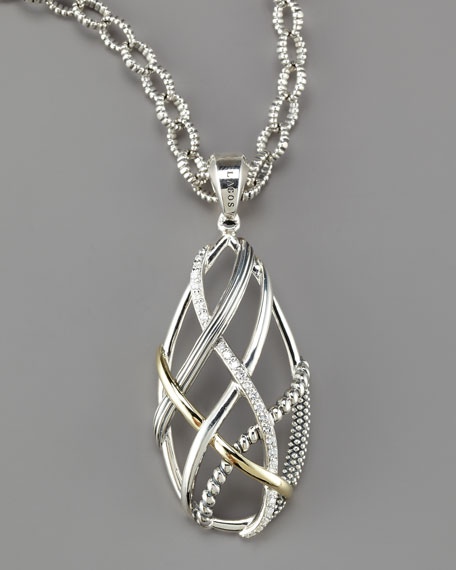Unlaced Diamond Pendant Necklace