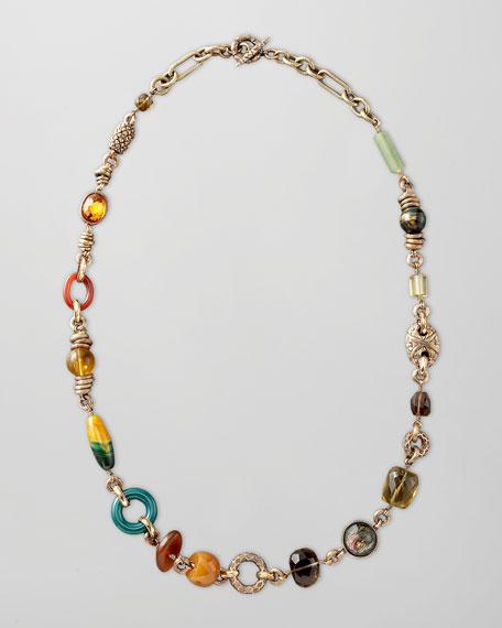 "Multi-Bead Necklace, 39""L"