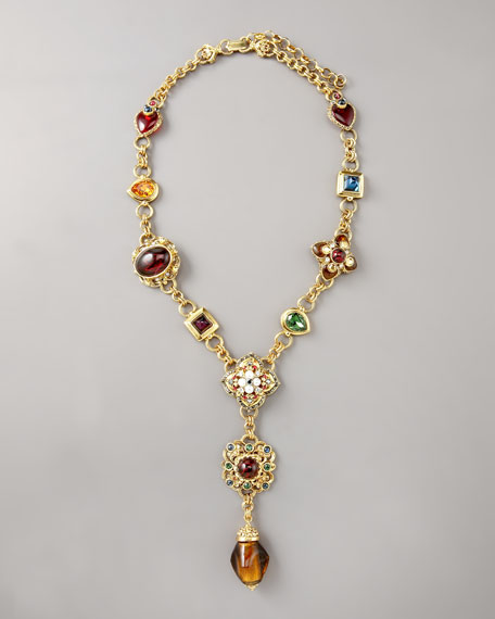 Jeweled Drop Necklace
