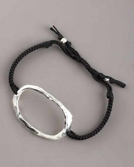 Hammered Silver O-Ring Bracelet