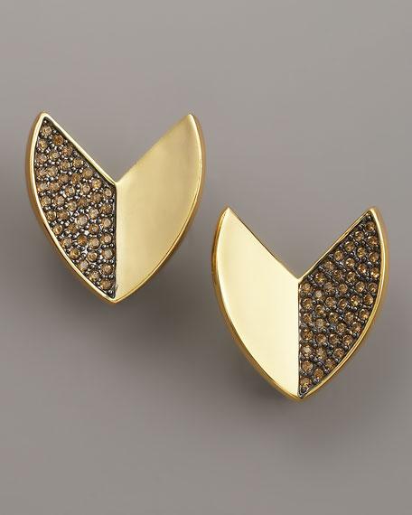 Nara Pave Quartz Stud Earrings