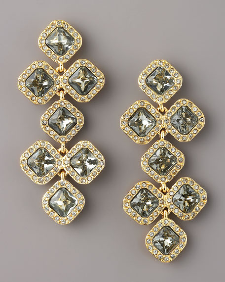 pave crystal chandelier earrings