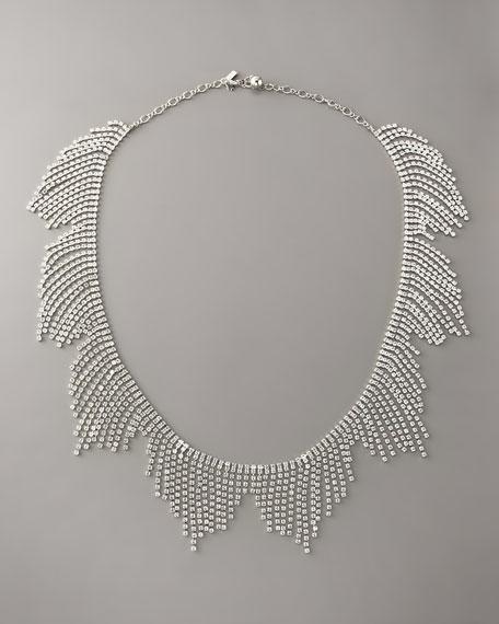 crystal-fringe bib necklace