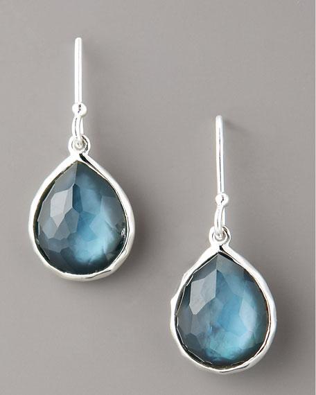 Small Teardrop Earrings, Blue