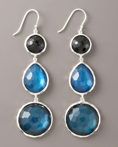 Three-Drop Earrings