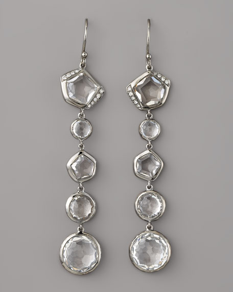 Quartz & Diamond Earrings