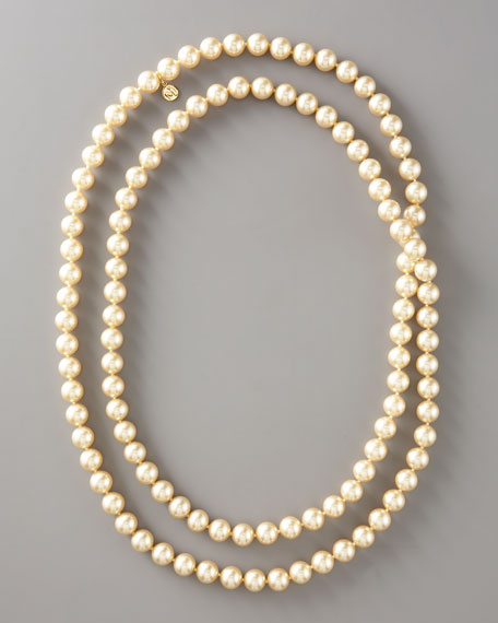 "Pearl Infinity Necklace, 48""L"