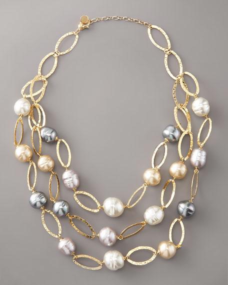 Multi-Strand Baroque Pearl Necklace