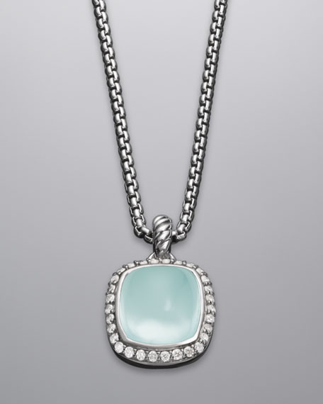 Noblesse Necklace, Aqua Chalcedony