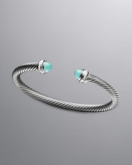 Cable Classic Bracelet, Aqua Chalcedony