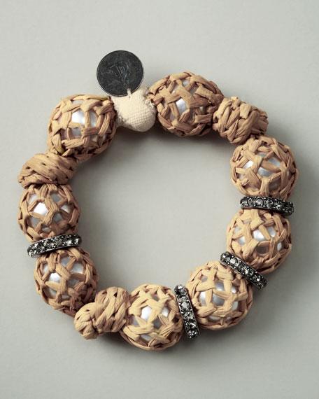 Raffia-Wrapped Bracelet