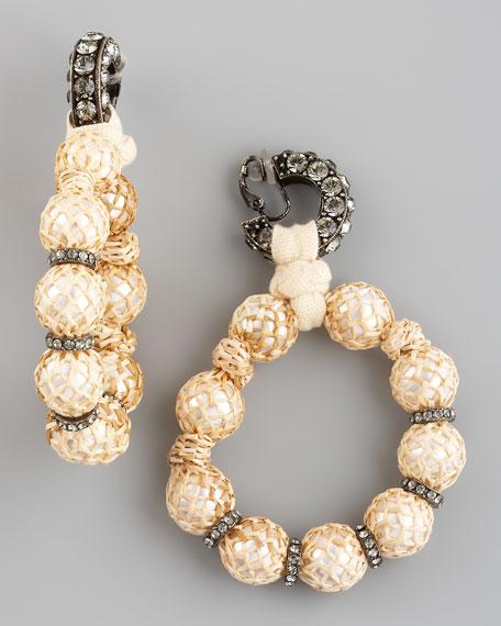 Raffia-Wrapped Earrings