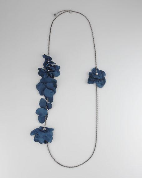 """Long Petal Necklace, 60""""L"""