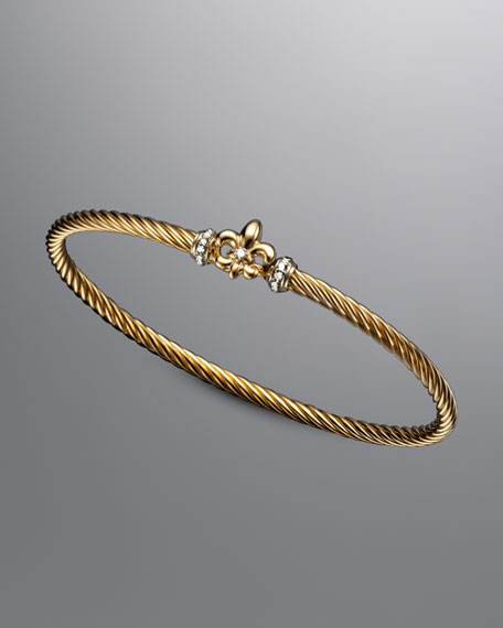 Cable Collectibles Fleur-de-lis Bracelet with Diamonds