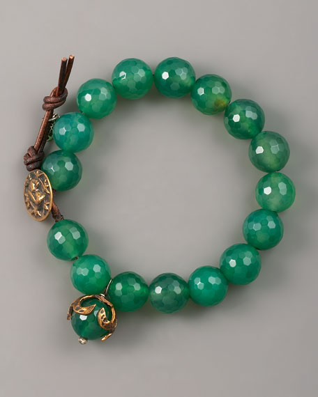 Faceted Green Agate Bracelet