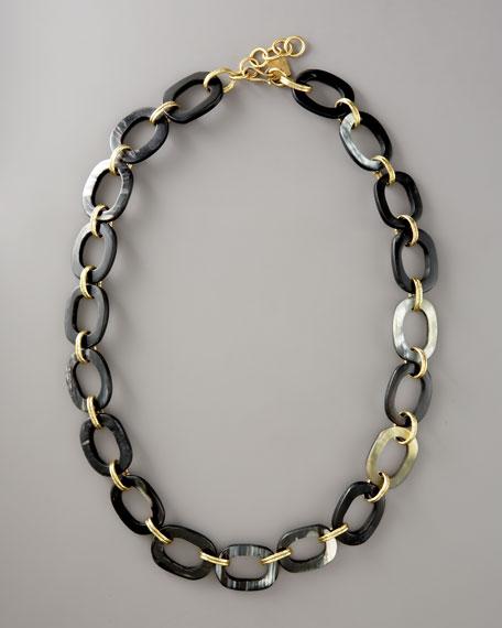 Pembe Chain Necklace, Dark Horn