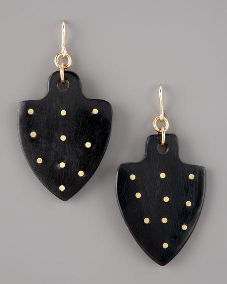 Moyo Studded-Horn Earrings