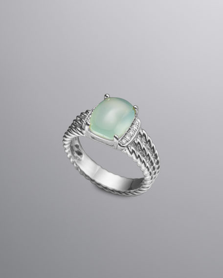 Petite Wheaton Ring, Aqua Chalcedony