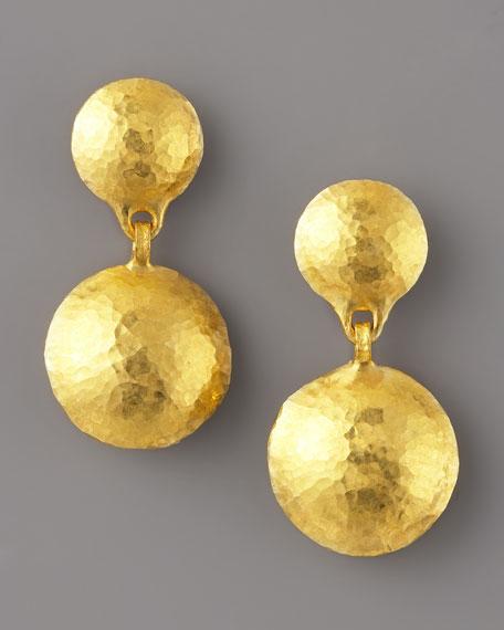 Gold Double-Drop Earrings