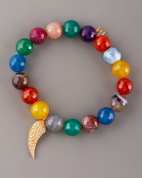 Agate & Pave Diamond Bracelet