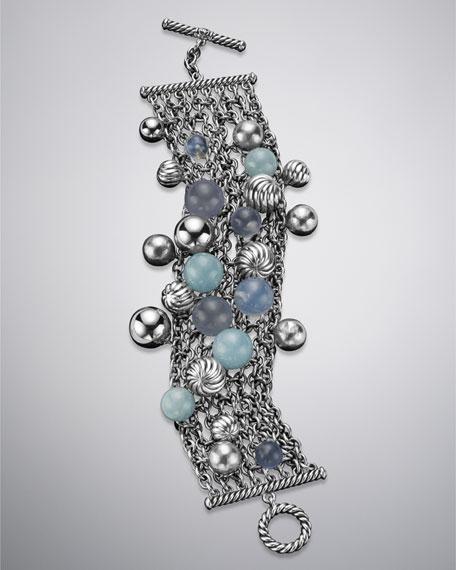 Elements Bracelet, Blue Chalcedony
