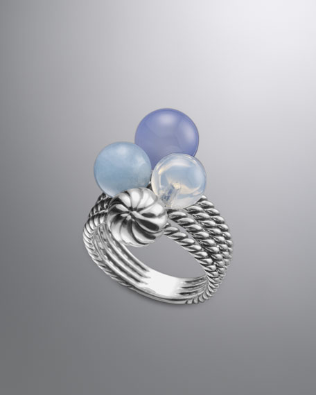 David Yurman™ Elements Ring, Blue Chalcedony