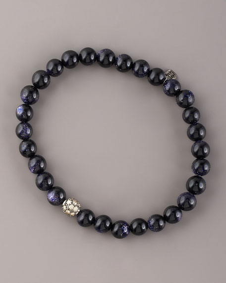 Goldstone & Diamond Bracelet