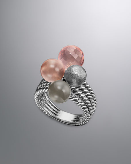 Elements Ring, Rose Quartz