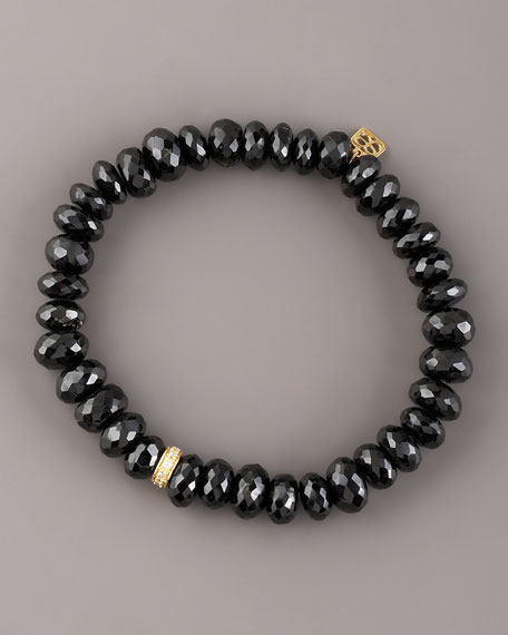 Black Spinel & Diamond Bracelet