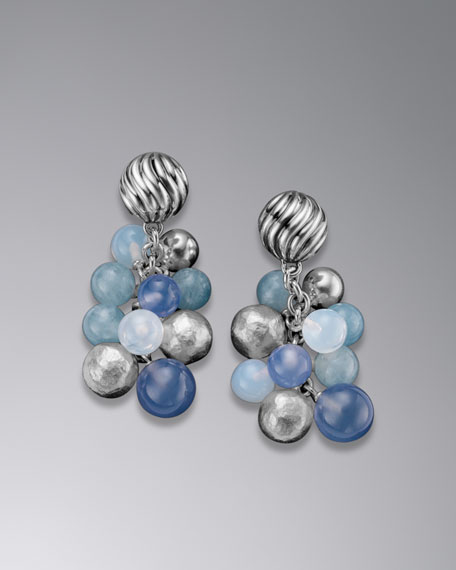David Yurman Elements™ Earrings, Blue Chalcedony