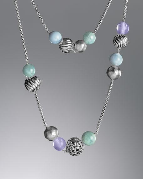 Elements Necklace, Aqamarine