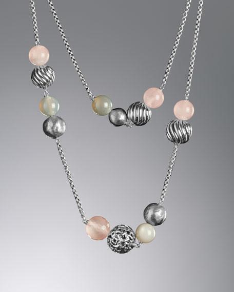 Elements Necklace, Rose Quartz