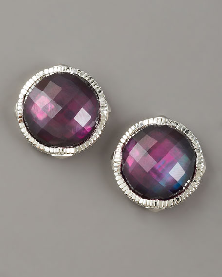 Corundum Doublet Stud Earrings
