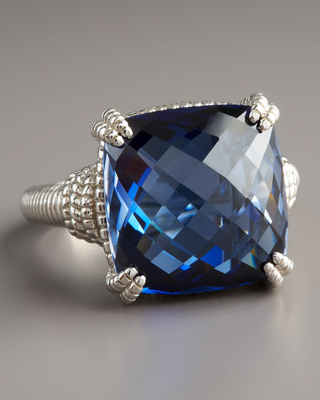 Cushion-Cut Corundum Ring