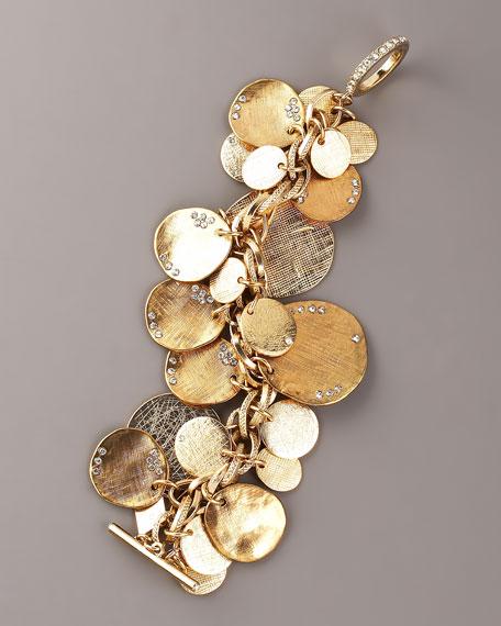 Pave Disc Necklace Bracelet