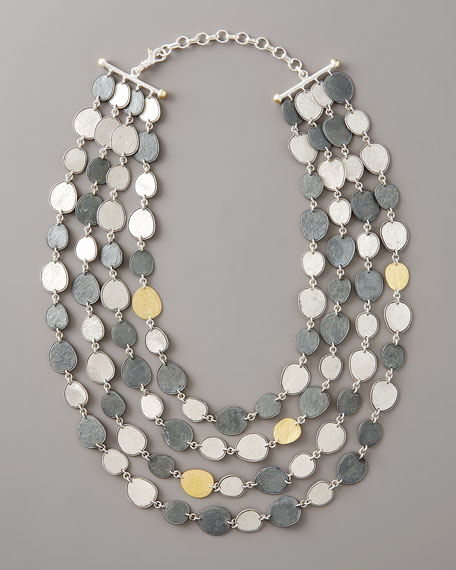 Mixed Metal Multi-Strand Necklace
