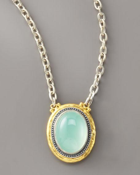 Chalcedony Gauntlet Pendant Necklace