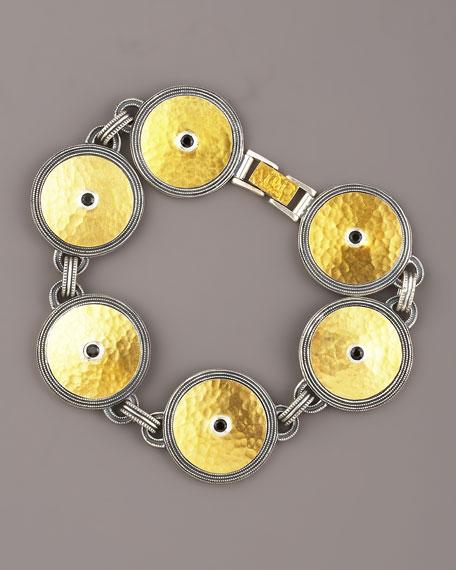 Gold & Spinel Shield Bracelet