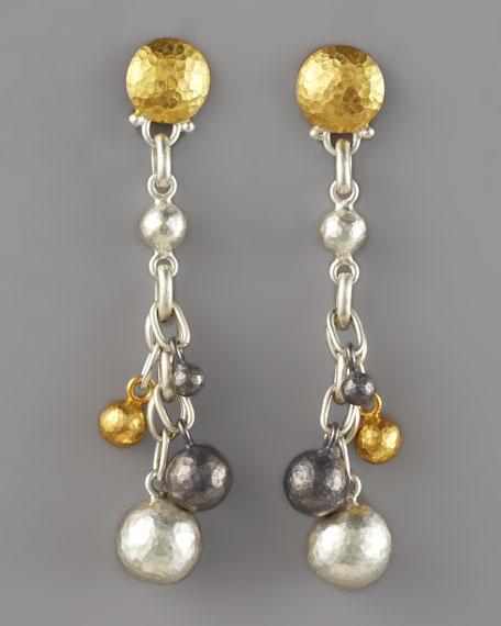 Caviar Mixed Metal Earrings