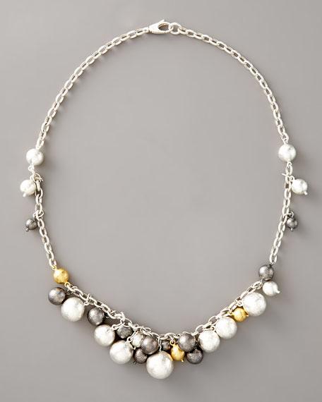 Caviar Mixed Metal Necklace