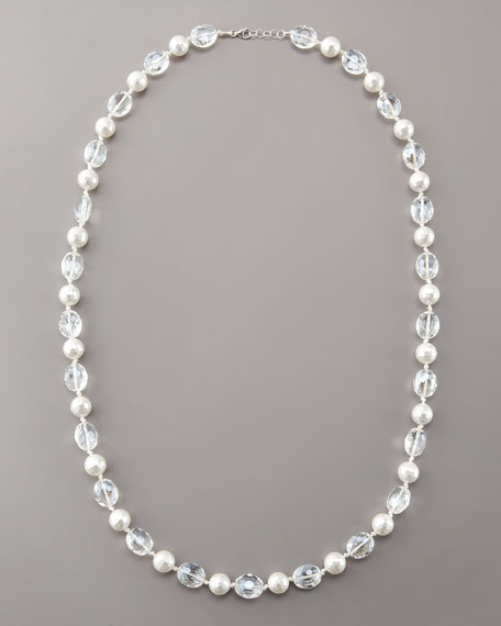 Faceted Pearly Bead Necklace
