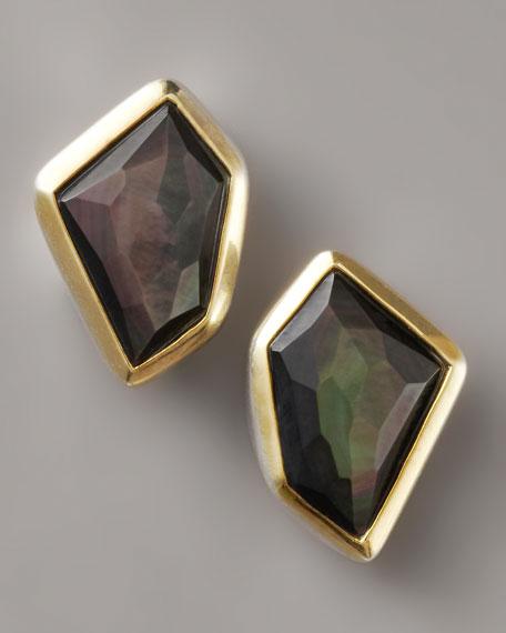 Mother-of-Pearl Earrings, Black