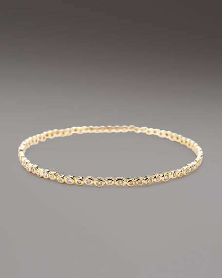 Diamond Starlet Bangle, Gold