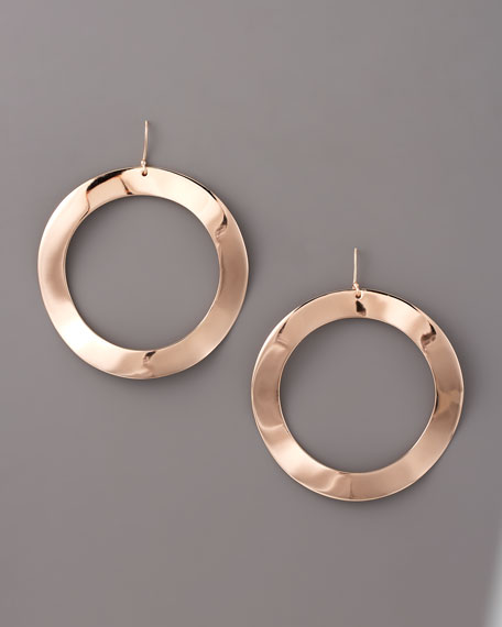 Open Circle Drop Earrings, Large