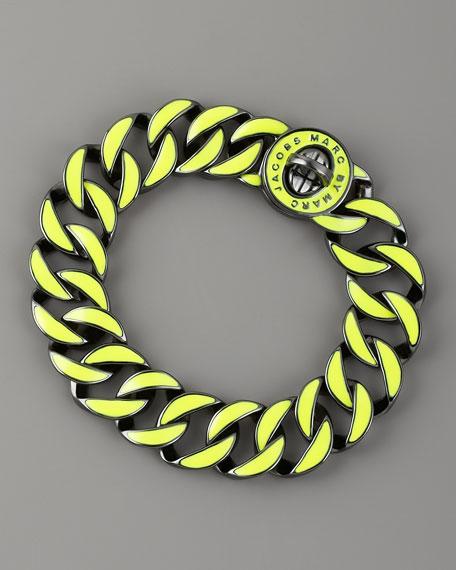 Enamel-Coated Katie Turnlock Bracelet, Lime