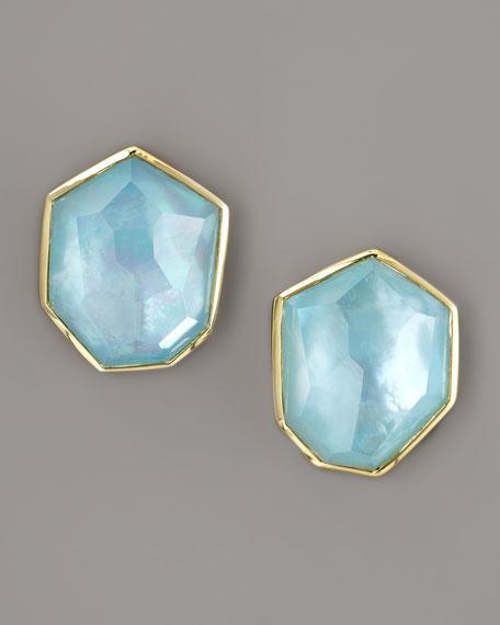 Rock Candy Blue Topaz Stud Earrings