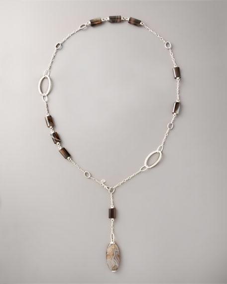 Bedeg Agate Pendant Necklace