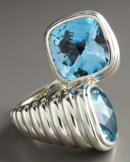 Bedeg Blue Topaz Bypass Ring