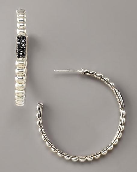 Bedeg Black Sapphire Hoop Earrings