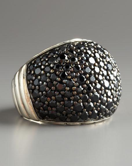 Bedeg Black Sapphire Dome Ring